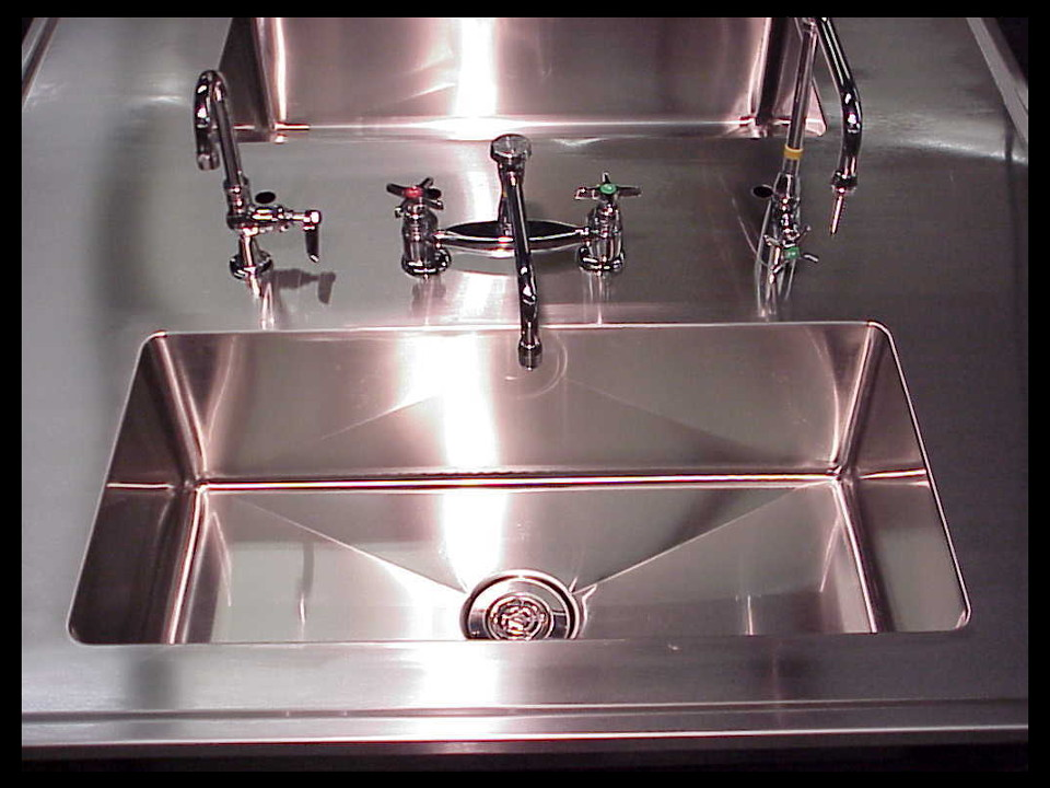 Stainless Laboratory Countertop with Sinks