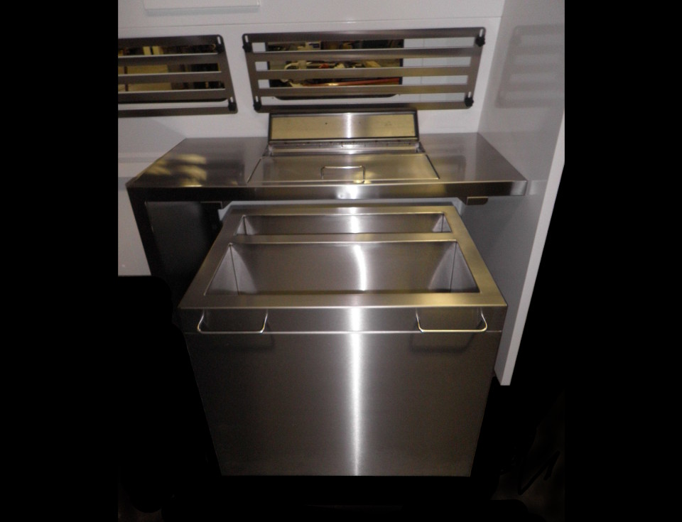 Stainless Steel Hopper with Counter Within Hood