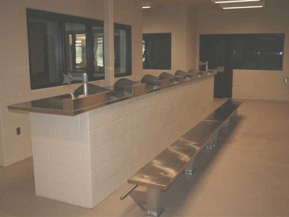 Stainless Steel Security Bench and Countertop