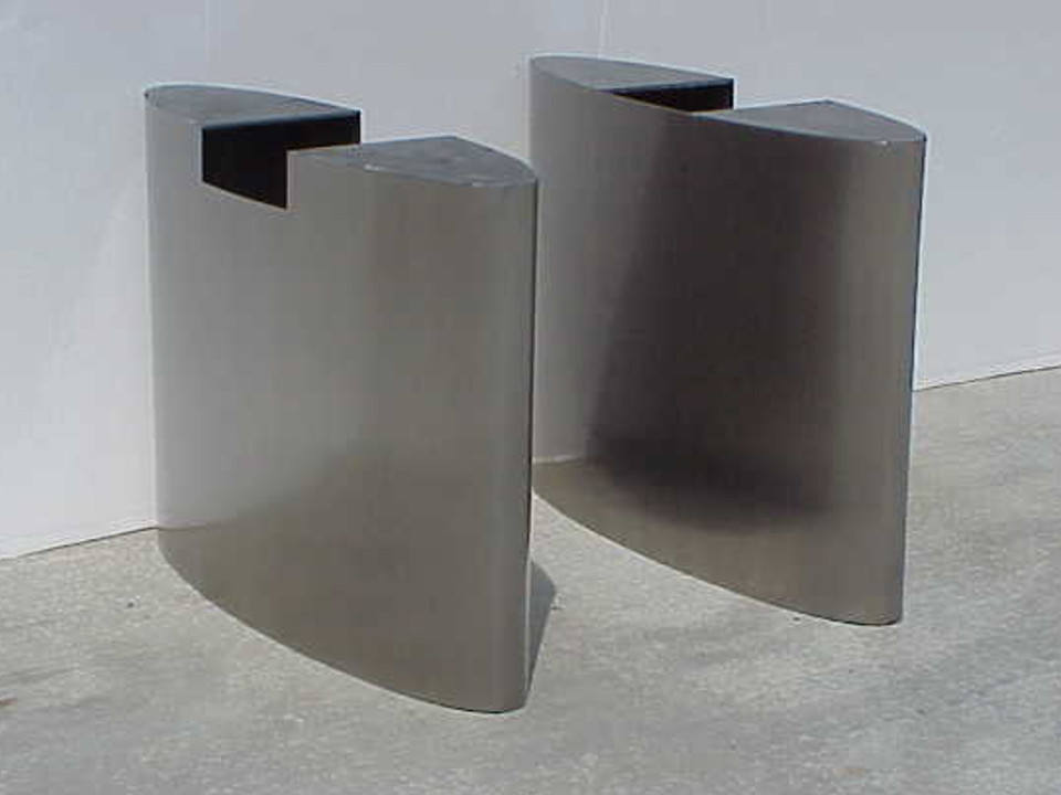 Stainless Steel Eliptical Table Base