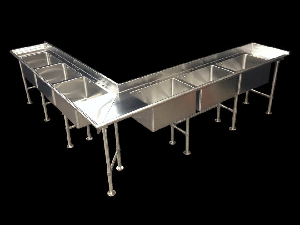 Stainless Steel Commercial Sink With Legs