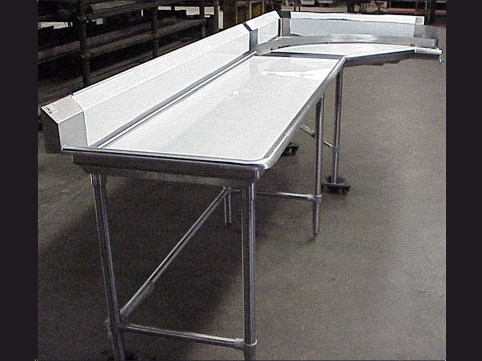 L Shaped Dish Table Made From Stainless